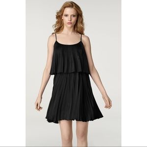 Halston Heritage 100% Silk Black Tiered Dress